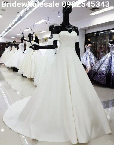 Minimal Bridal Gown
